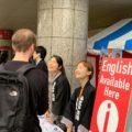 「2019川越まつり」で外国人観光客に英語によるおもてなし